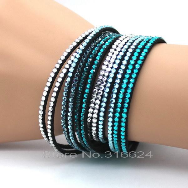Manufacturers Selling New Fashion Leather Braided Bracelet Winding Bracelet Leather Bracelet Charm(China (Mainland))