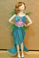 retail girl Ariel Mermaid princess costumes 90cm-140cm 2t-9 cosplay  kids performance clothes cartoon dress party clothing