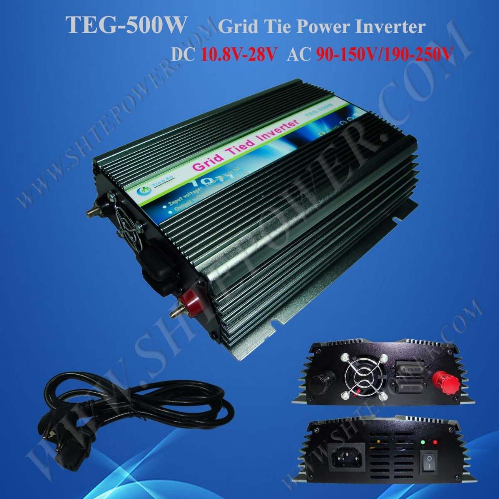 grid tie inverter 24v 220v 500w solar inverter(China (Mainland))