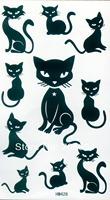 Temporary Tattoo Stickers Cat Tattoos Sex Products10pcs 33 Designs New Tattoo Designs Free Waterproof Arm Chest Tattoos