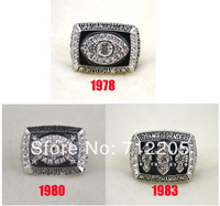 Free shipping fashion replica 1978 1980 1983 Oakland  Raiders Super Bowl XVIII Football World Championship Ring