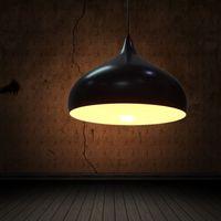 Modern brief restaurant lights bar pendant light aluminum single head personalized led lighting