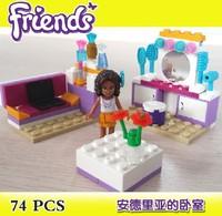 Bela Building Blocks Friends Andrea's Bedroom 10153 Construction Sets Educational Bricks Toys for Girls Compatible Bricks