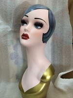Vintage Hand Painted Jewelry Mannequin Head
