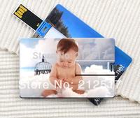 Free shipping 2014 customized credit card usb flash drive print your company logo