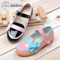 2014 spring female single shoes child japanned leather female princess shoes children shoes child bow gommini female child