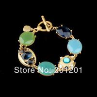 2014 jewelry Fashion Women accessories brief + charm imitation gemstone bracelet 2347 for girl gift Free Shipping