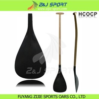 Carbon Fiber Outrigger Canoe Paddle With Timber Shaft