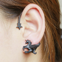 Sunshine jewelry store fashion pegasus earring katy perry Dark Horse earring ( $10 free shipping )