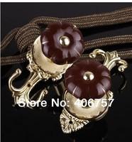 Top quality  unique design fashionable znic&ceramic  Pumpkin curtain hooks holdback tieback by plating gold metal& ceramic