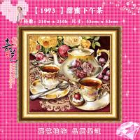 Free shipping Diy diamond painting resin square drill cross stitch 3d diamond rhinestone pasted painting sweet tea