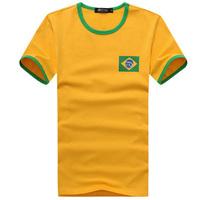 High Quality 2014 World Cup Brazil Home Court Men Soccer Jersey Soccer Shirt Football Jersey