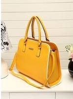 2014 spring new trend hit color fashion handbags Korean version of the simple hand / shoulder bag handbag large diagonal