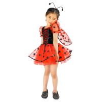 retail girl ladybug costumes insects party cosplay kids dress 2t-9 cosplay kids performance clothes carnival animal dress party