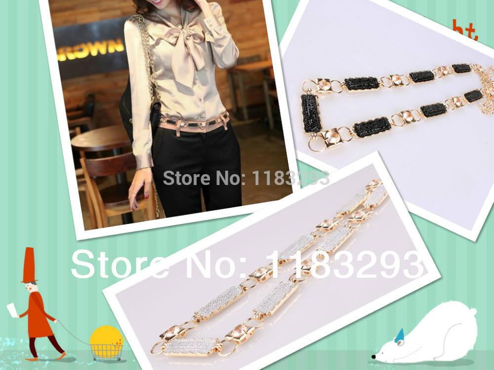 New Korean female models wild fashion rhinestone metal waist chain! free shipping ---JIM SHOP(China (Mainland))
