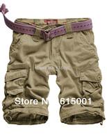 SkyMallHK Men's Twill Cargo Shorts Quick-dry Summer Shorts  Free shipping