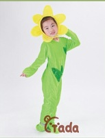 Child female plants style performance wear clothes bodysuit set male spring and autumn