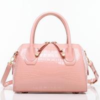 2014 spring new portable shoulder bag crocodile pattern bow portable shoulder Messenger Bag handbags casual street