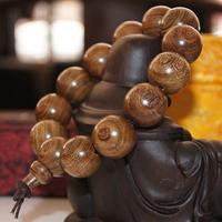 12~20mm Golden Sandalwood Tibetan Prayer Bracelets For Men and Women Jewelry Wooden Buddhist Bracelet