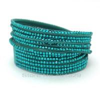 Cuff Bracelets Leather Bracelets Bangles,The  European Pop Style Multi-layer Leather Bracelets Bracelets With Metal Button