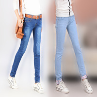 Niuzaiku Thin Trousers Jeans Korean Wave Trousers Pencil Pants Pants Feet