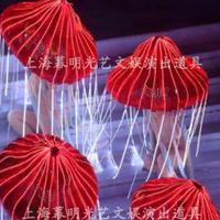 Led luminous jellyfish style lighting large dance accessories props led luminous umbrella dance