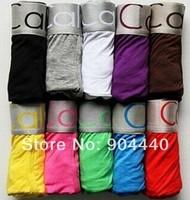 10Pcs/Lot Brand Men's Sexy Underwear Cotton Boxer Calvin Shorts Ropa Underpants Undies 11 Colors Size ML XL XXL Free Shipping