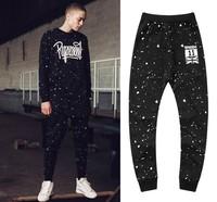 2014 hot fashion men sweatpants Represent splash-ink casual pants bboy trousers hiphop knitted wei pants casual pants paint male