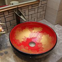 Jingdezhen basin gold art counter basin wash basin dp70