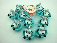 2014 New Arrive  (20pcs/lot) 4 style Cute dog keychain