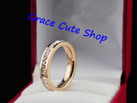 Free Shipping Love Brand Ring Stainless Steel Famous Jewelry Top Quality Gift Package(Card,Dust Bag,Gift Box) #CTR083