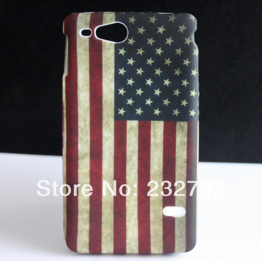 High Quality Retro USA Flag Soft Rubber Cover Skin Case FOR SONY XPERIA GO ST27i(China (Mainland))