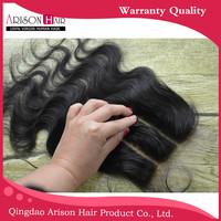 swiss lace closure peruvian hair 3.5*4 wavy lace closure piece ,peruvian virgin hair lace closure bleached knots