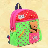New 2014 Children Cartoon Bag Kids School Backpacks Cute Animal Book bags Satchel Canvas backpack Free Shipping