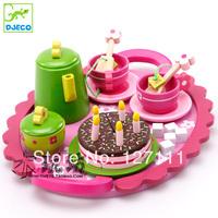 High quality Mother garden children kitchen toys set strawberry tea set wooden toy best children gift