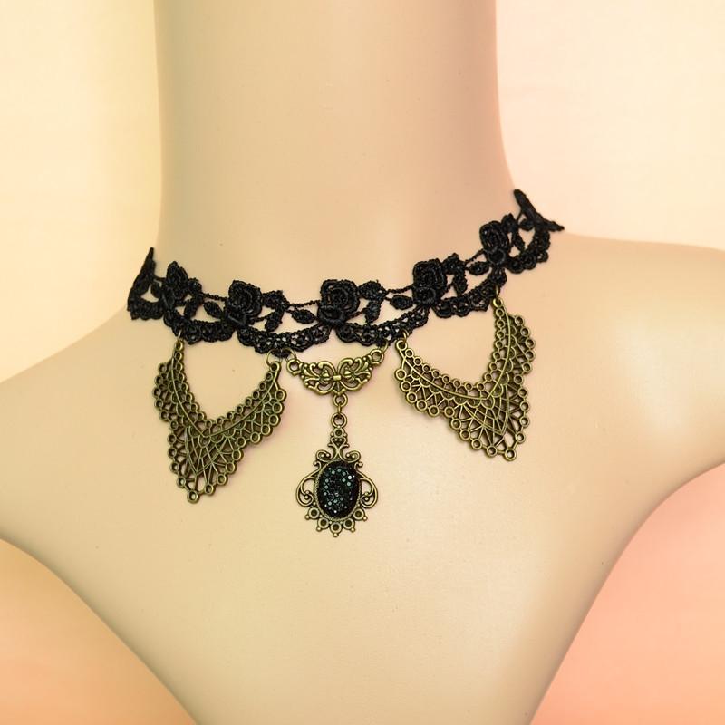 Ebay мода короткое ожерелье платье аксессуары старинные gothic halloween party аксессуары
