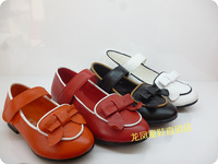 2014 children shoes leather genuine leather spring and autumn female cowhide leather child princess child single shoes