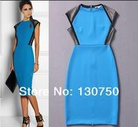 Free Shipping  European and American Women Clothing  Victoria Beckhams Summer Dress Slim  dress Spring 2014