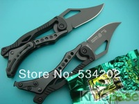 SR Mechanical pocket folding knife small black edition utility Knives 440C 55HRC Blade Black Steel tools 20pcs/lot WHOLESALE