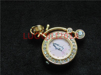 2014 NEW METAL 4GB 8GB 16GB 32GB lover gift bicycle pocket Watch set auger usb flash drive jewelry flash Memory Stick Pen drive