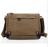 men&women's canvas messenger bag multifunction bag brown shoulder bag free shipping