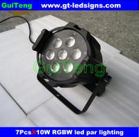 Free Shipping 2PCS/LOT Wholesales Led ParCans,PAR 36 Quad Small Led Par Light 7PCS 10W 4IN1 Led Par Stage Light,DMX 7CH,RGBW