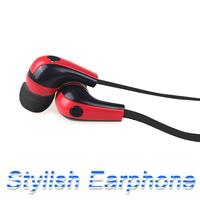 2014 Stylish In-Ear Stereo Earphone Earbud Headphone for iPod iPhone MP3 MP4 Smartphone Red & Black