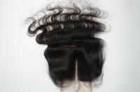 swiss lace closure peruvian hair 4*4 straight lace closure piece ,peruvian virgin hair lace closure bleached knots