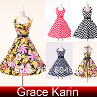 Fast Shipping! Grace Karin 4 Colors Cotton Evening Bandage Vintage Dresses, S, M, L, XL CL6076