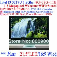 """wireless pos system 21.5"""" Intel I3 3217U dual core four threads CPU 1.8Ghz 16:9 WLED 8G RAM 32G SSD 1TB HDD Windows Linux ubuntu"""