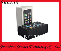 Wholesale 30pcs/lot with free shipping for iphone 3gs packaging box with sim pin and manual packing box