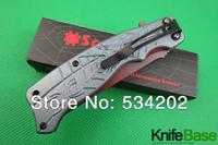 New 2014 Spyderco J12 folding titanium knife 56hrc aluminum handle 5Cr13 blade spyderco Tactical knives Tools 15pcs/lot