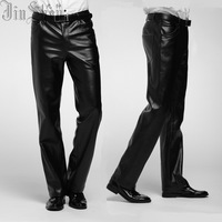 2014 male leather pants slim fashion plus velvet thickening cold-proof thermal motorcycle skinny pants