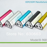 Universal Power Supply B-968 6000-6600mAh Mobile Power Bank for Cellphone/Music Player/MP3/MP4/MP5